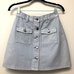 MINKPINK Denim Blue Mini Skirt